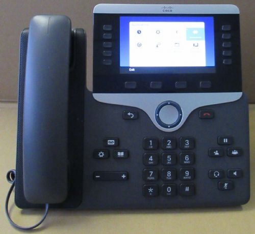 Cisco CP-8851-K9 CP-8511 Unified IP VOIP Greyscale Telephone Phone 8800 Series